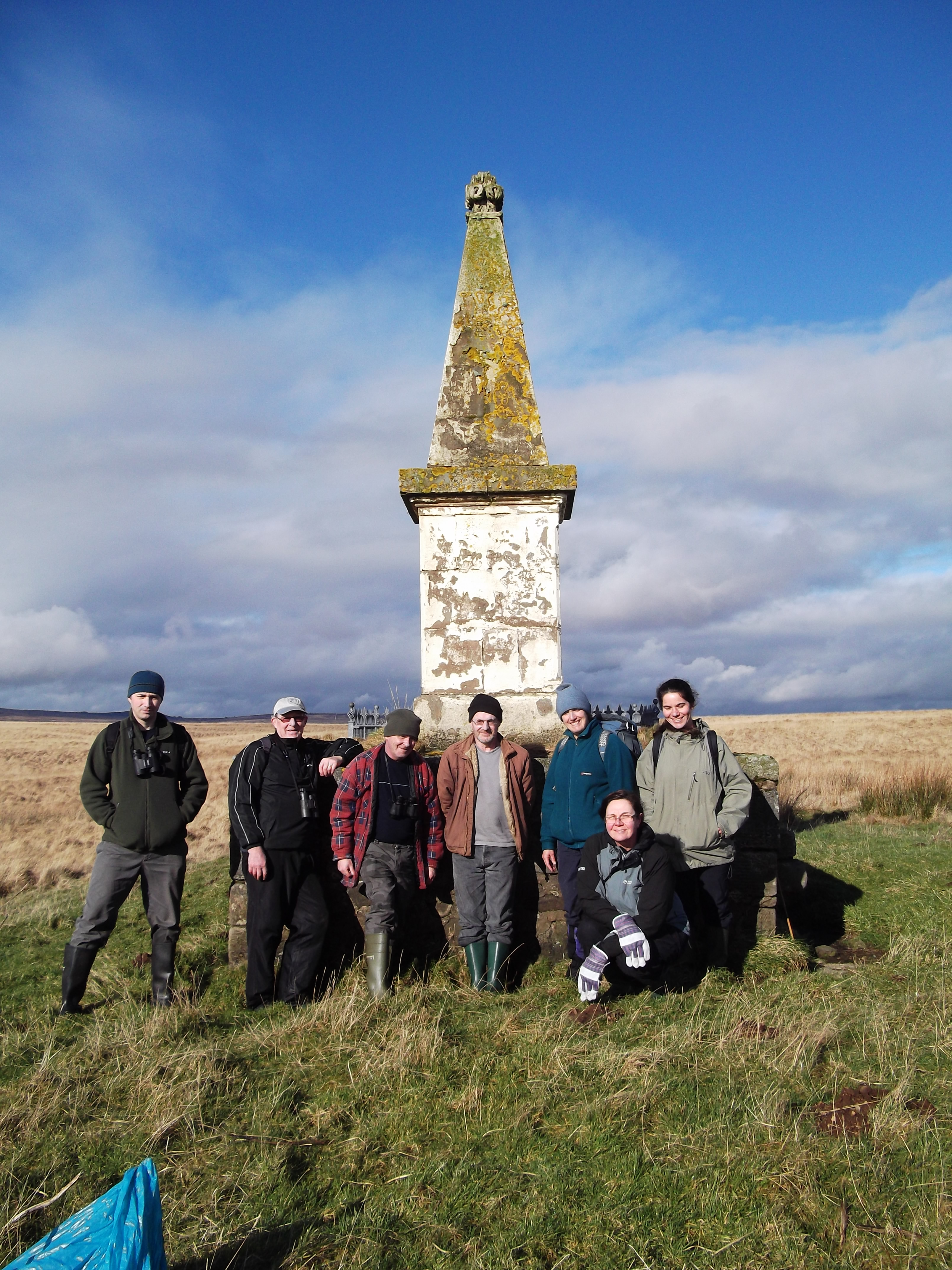 CEI Volunteers at Covenanters Monument, Airds Moss